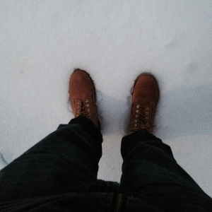 I've got my boots and I'm ready for the snow.